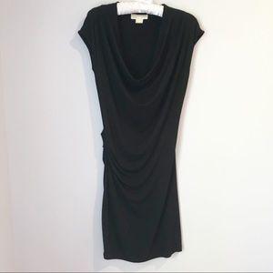 MICHAEL KORS Drape Neck Dress Black Sz XS